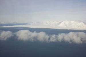 Svalbard from the plane